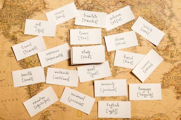 Nauka angielskich słów. badanie