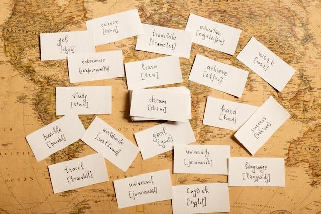 Nauka angielskich słów. marzenie