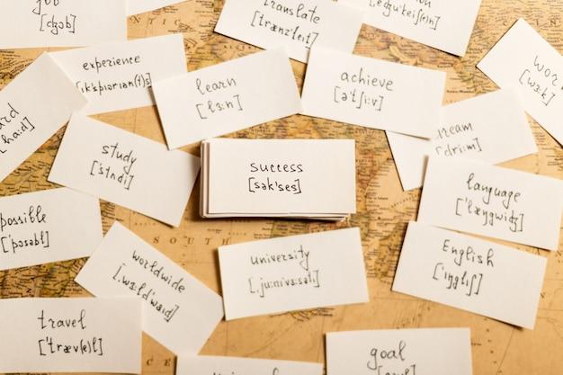 Nauka angielskich słów. powodzenie