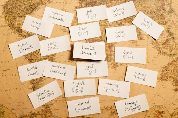 Nauka angielskich słów. tłumaczyć