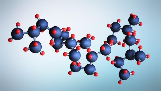 Nauka lub koncepcja medyczna z cząsteczkami