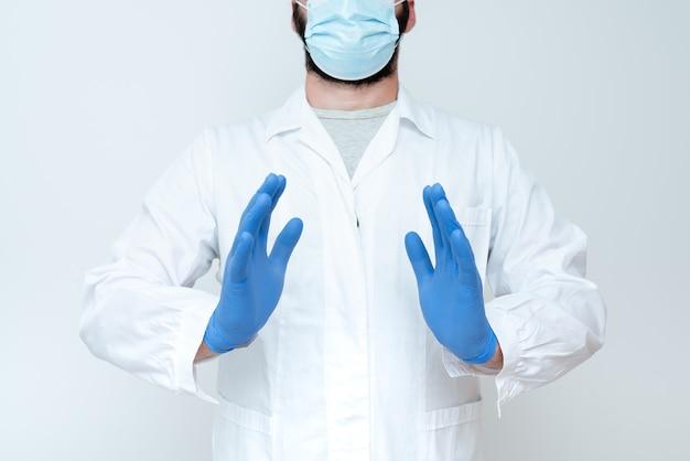 Naukowiec demonstrujący nową technologię, lekarz udzielający porad medycznych, chemik wykłady naukowe, dyskusje, noszenie zawodu odzież robocza odzież ochronna