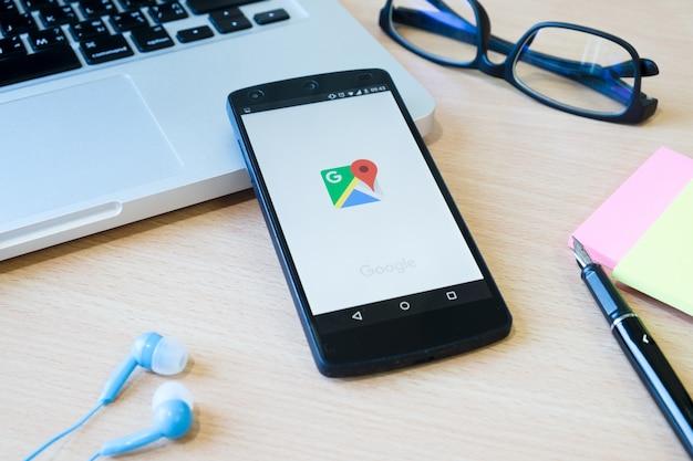 Nawiguj android touch drewniany ilustracja społeczna