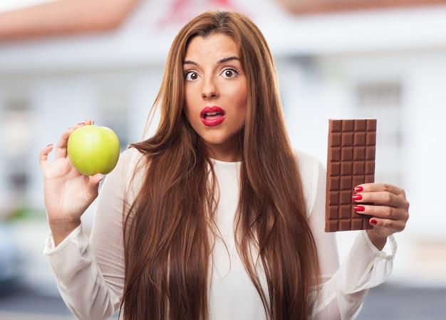 Nawyki waga pokusa czekolada żywność