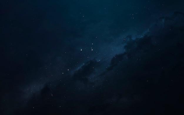 Nebula, piękna tapeta science fiction z nieskończoną głęboką przestrzenią. elementy tego zdjęcia dostarczone przez nasa