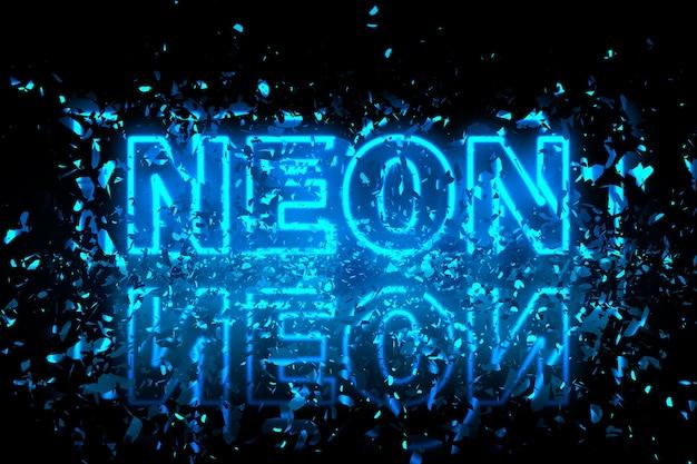 Neon abstrakcyjne tło ilustracji