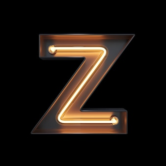Neon light alphabet z