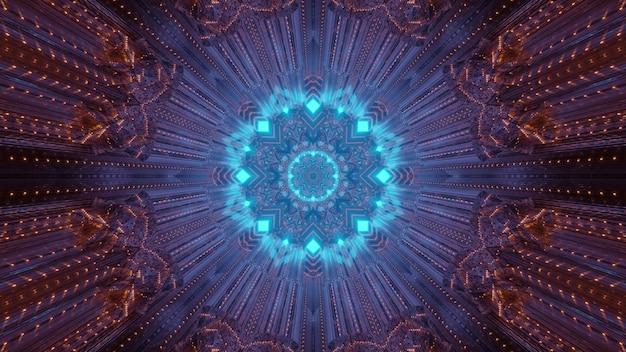 Neon świecący wzór 3d ilustracja