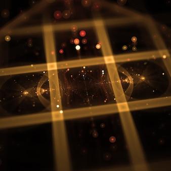 Neonów lfractal z efektem bokeh