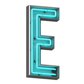 Neonowa litera e