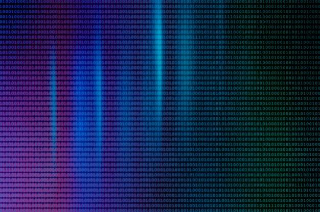 Neonowe tło z kodów binarnych. kod binarny jako tło.