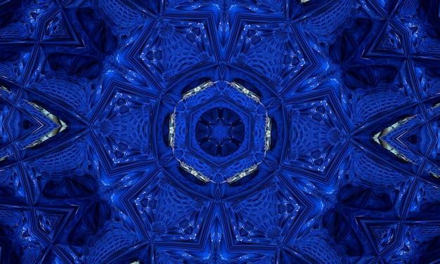 Neonowy kształt na niebieskim tle z teksturą. gradientowy kolor tła. plakaty z futurystycznym wzornictwem. neonowe świecące linie techno, niebieski hi-tech futurystyczny abstrakcyjny szablon tła.