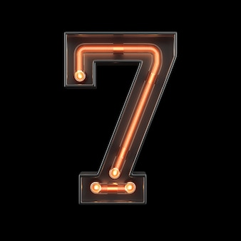 Neonowy numer 7