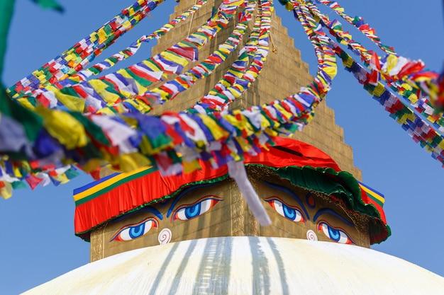 Nepal. punkt orientacyjny swayambhunath kathmandu. everest base camp trek.