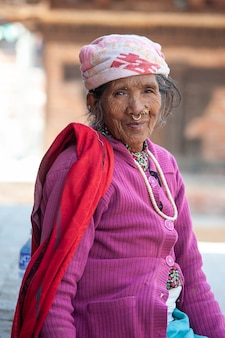 Nepalska stara kobieta