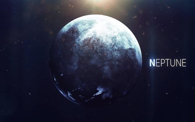 Neptun - piękna grafika w wysokiej rozdzielczości przedstawia planetę układu słonecznego