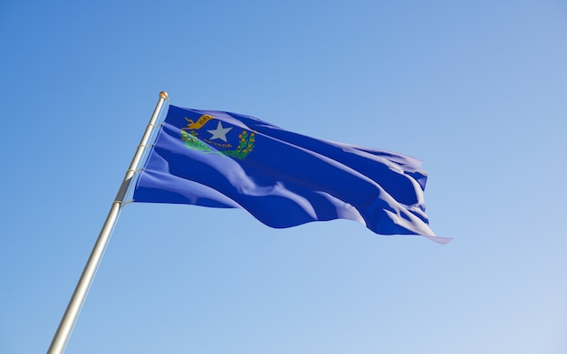 Nevada us state flag niski kąt