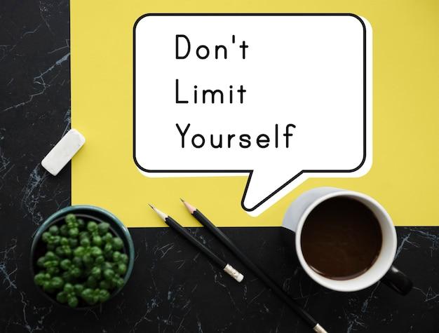 Nie ograniczaj się wolność motywacja sukces