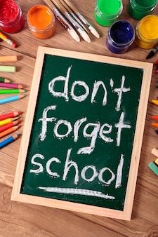Nie zapomnij o szkole