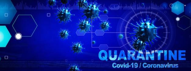 Niebezpieczny wirus koronowy, koncepcja ryzyka pandemii sars. ilustracja 3d
