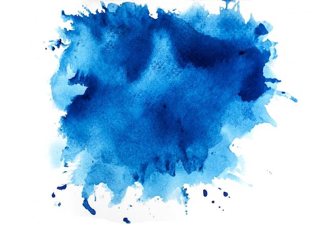 Niebieska akwarela