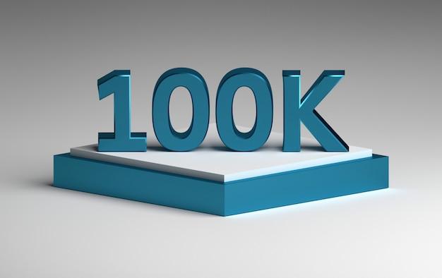 Niebieska błyszcząca liczba 100 tys