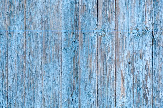 Niebieska drewniana ściana