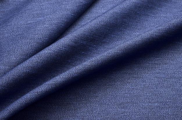 Niebieska dżinsowa tkanina