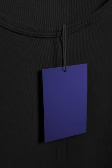 Niebieska etykieta z miejscem na kopię