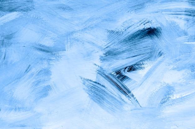 Niebieska farba pędzlem teksturowanej tło