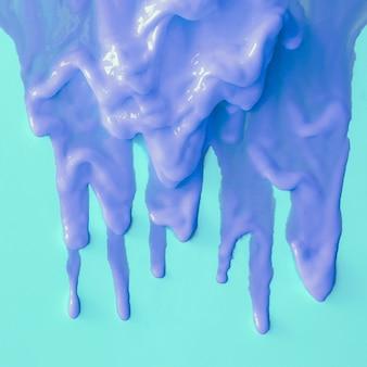 Niebieska farba. rozlany. koncepcja kreatywnych kolorów