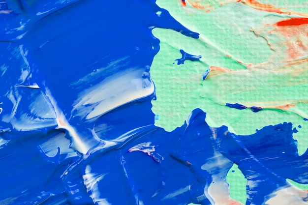 Niebieska farba teksturowane tło estetyczne diy eksperymentalna sztuka