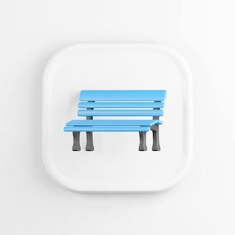 Niebieska ikona ławki