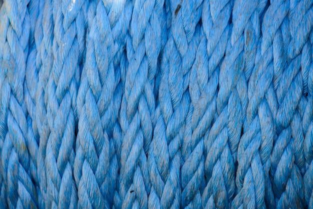 Niebieska lina cumownicza