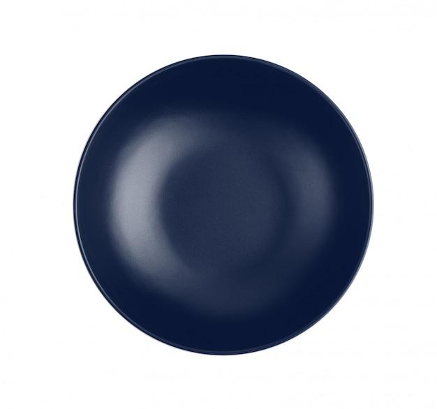 Niebieska miska na białym tle