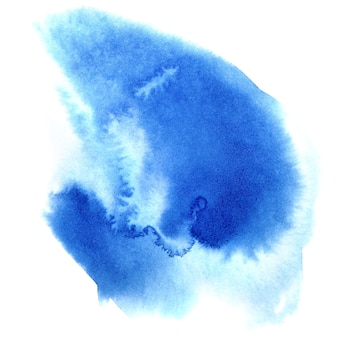 Niebieska plama akwarela - abstrakcyjne tło