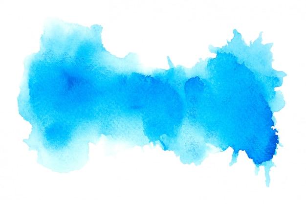 Niebieska plama akwarela z odcieniami koloru tła farby