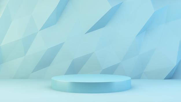 Niebieska platforma prezentacji produktów