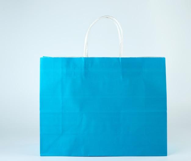 Niebieska torba na zakupy z rączką
