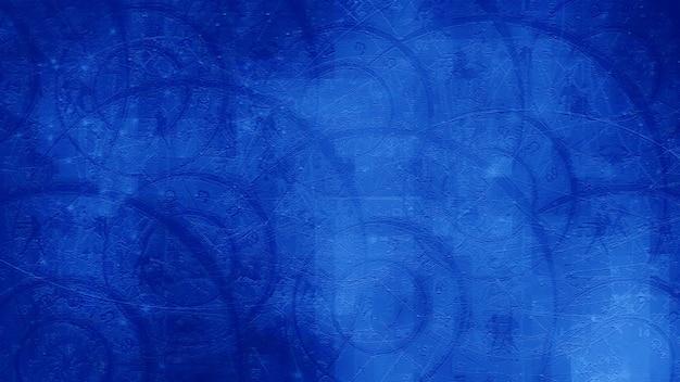 Niebieski astrologia zodiak horoskop wzór tekstury tła, projekt graficzny
