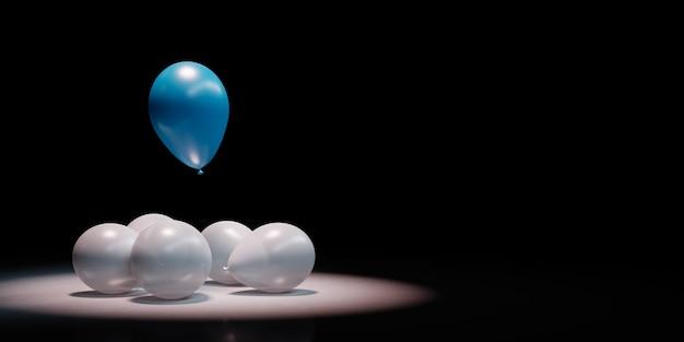 Niebieski balon wyróżnia się w tłumie bieli