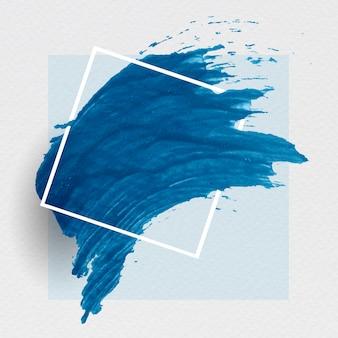 Niebieski baner pociągnięcia pędzlem