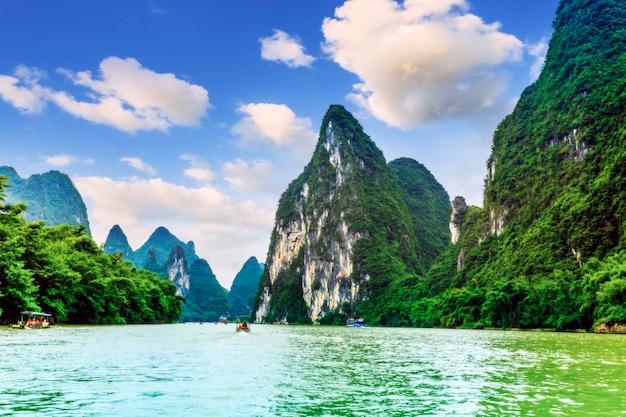 Niebieski chińskich rzek lijiang rzeki miasta