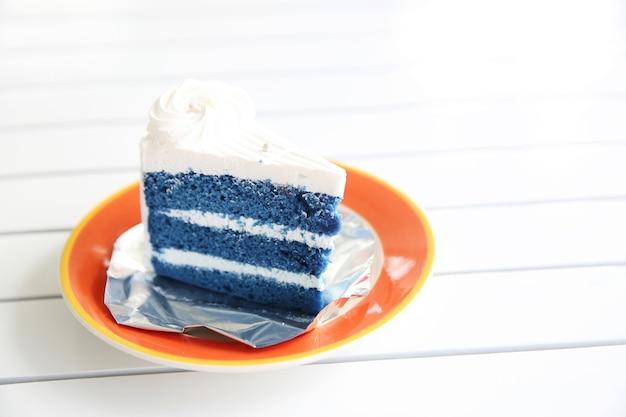 Niebieski ciasto