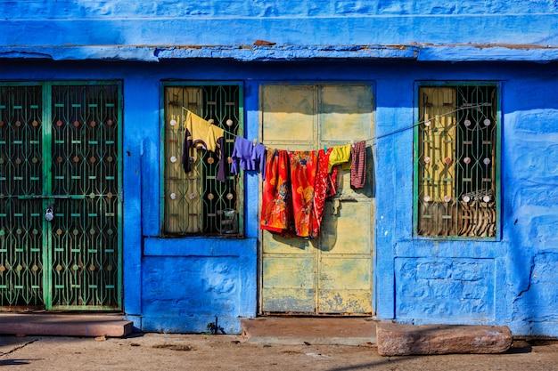 Niebieski dom w jodhpur, radżastan