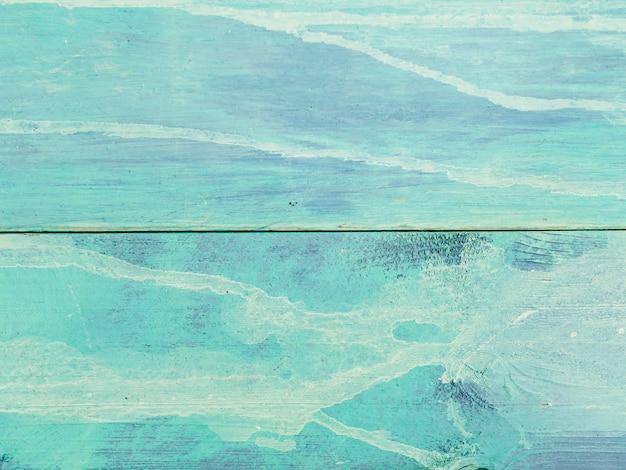 Niebieski drewniany stół teksturowanej tło