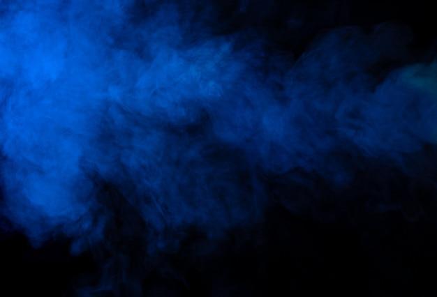 Niebieski dym tekstury tła