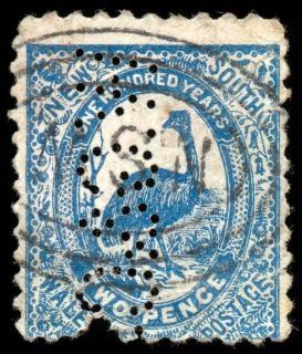 Niebieski emu znaczek czarny