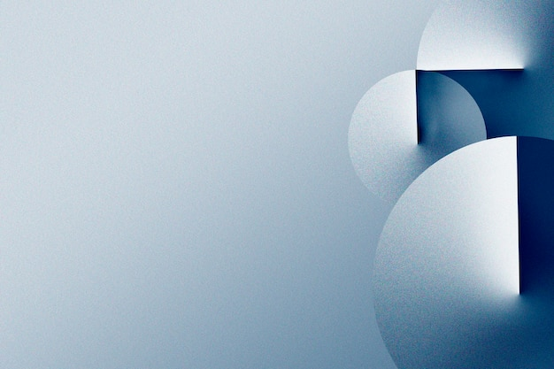 Niebieski geometryczny wzór 3d na gradientowym tle