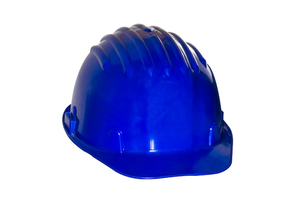 Niebieski hełm budowlany